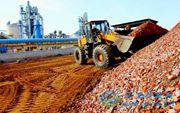 枣庄市干法水泥生产线处理建筑垃圾获得成功