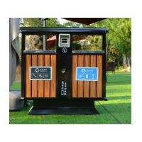 厂家直销户外塑胶木垃圾箱公园市政分类环保可定制