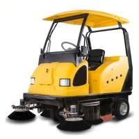西安扫地车 工厂道路水泥地面用驾驶式扫地车 明诺电动清扫车