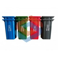 分类垃圾桶塑料家用户外四色分类垃圾桶