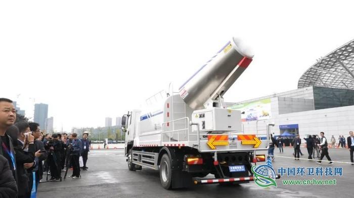 甘肃建投新能源环卫装备亮相2019年中国环境卫生国际博览会