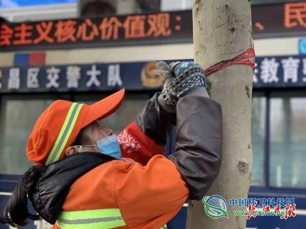 大年初四,她成为武汉大街上最醒目的一抹环卫橙色