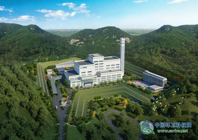 辉县市生活垃圾焚烧发电项目紧张施工中