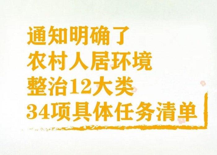 一图读懂 | 2020年上海市农村人居环境整治任务清单