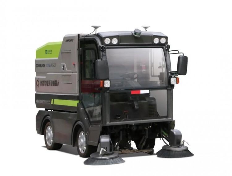 """城市垃圾""""清道夫"""":盈峰环境智能全线控一体式清扫机器人登场"""