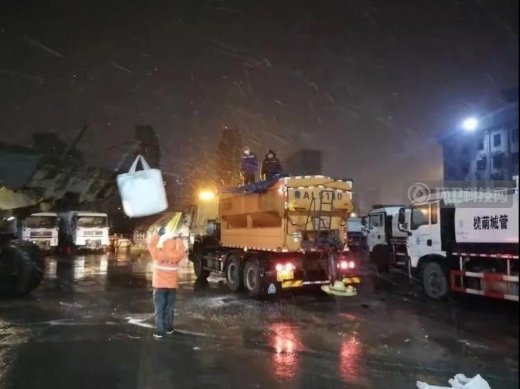 以雪为令!济南槐荫城管全力做好清雪除冰保障工作