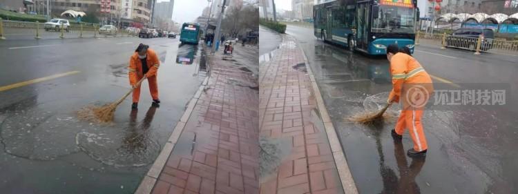 开学日遇上雨雪天!济南市中城管全力清雪保畅通