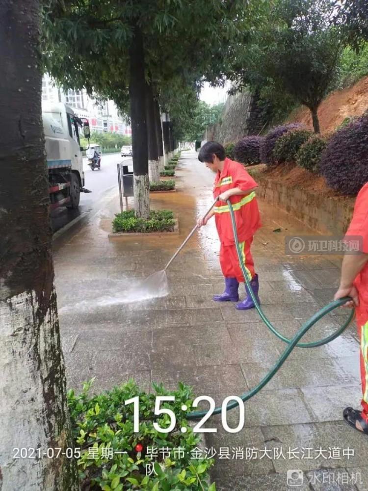 贵州金沙县突降一夜暴雨,玉龙人启动应急清淤保畅通